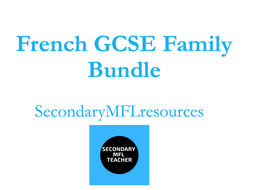 GCSE French Family, Daily Routine & Chores Bundle