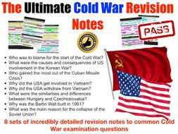 IB Cold War Exam Revision Pack - 8 topics, 12 pages