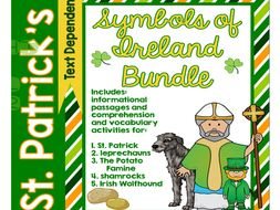 St. Patrick's Day Informational Text Comprehension Activities Bundle
