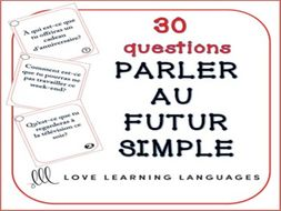 GCSE FRENCH: Futur simple speaking task cards