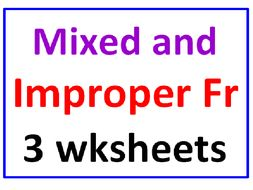 Mixed and Improper Fractions PLUS Mixed and Improper Fractions TWIST