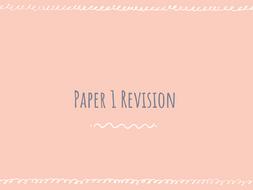AQA GCSE Chemistry Paper 1 Revision