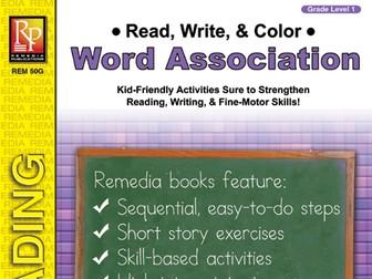 Read, Write, & Color: Word Association 1