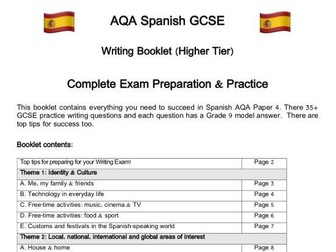 Spanish GCSE (AQA) Writing Workbook: Questions, Practice, Model Answers & Complex Structures