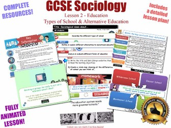 Types of School & Alternative Education - Sociology of Education L2/20[ WJEC EDUQAS GCSE Sociology ]