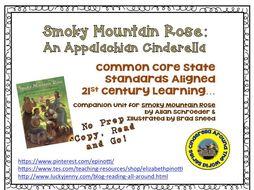 Smoky Mountain Rose: An Appalachian Cinderella No Prep Book Unit
