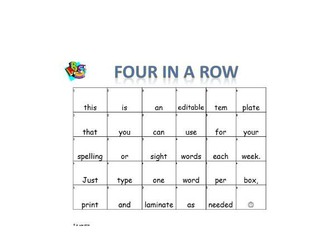 literacy four in a row template by jamakex teaching resources tes