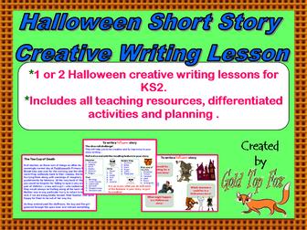 Halloween Short Story Creative Writing Lesson (KS2 English)