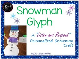 Snowman Glyph: Personalized Winter Craft | Project