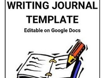 Writing Journal Template Editable On Google Docs By Rombop - Google diary template
