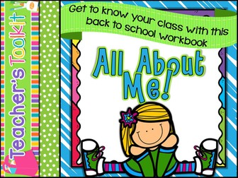 All About Me:  All About Me Back to School Workbook PSHE