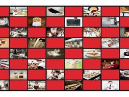 Restaurants And Fast Food Legal Size Photo Checkerboard Game By