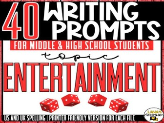 Daily Writing Prompts | Entertainment | Middle and High School
