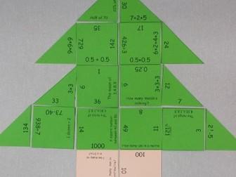 Christmas Tree Maths Jigsaw