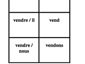 RE Verbs in French Verbes RE Present tense Concentration games