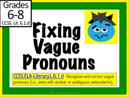 Vague Pronouns