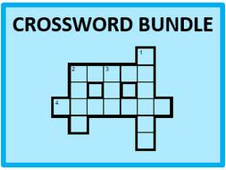 Spanish Present tense Crossword Bundle