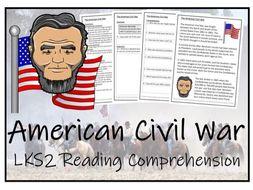 LKS2 History - American Civil War Reading Comprehension Activity