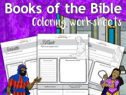 Books of the Bible coloring worksheets FREEBIE
