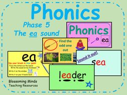 Phonics phase 5 - The 'ea' sound