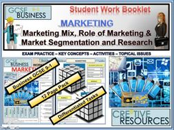 Marketing ( Market Mix , Role of Marketing , Market Segmentation , Market Research )