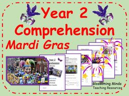 Mardi Gras comprehension - Year 2 SATs style
