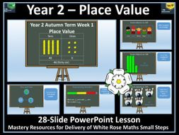 Place Value: Year 2 - Autumn Term  - PowerPoint Lesson - White Rose Maths