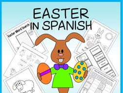 Easter in Spanish - vocabulary sheets, printables, matching game