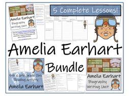 UKS2 History - Amelia Earhart Reading Comprehension & Biography Bundle