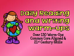 Daily Reading and Writing Warm-Ups for 3rd thru 5th Grade: Over 130