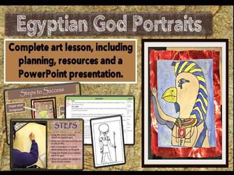 Egyptian ART - God Portraits -Complete Lesson