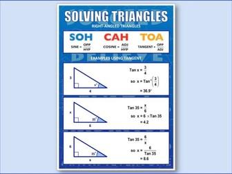 Trigonometry, SOH CAH TOA (Poster)