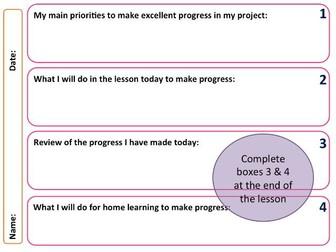 GCSE Art and Design project progress lesson