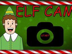 Elf Classroom Christmas Monitor