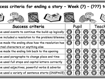 Success Criteria for story opening, middle and ending