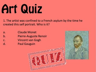 Art and Design  / Starter Quiz