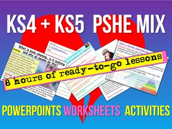 KS4 + KS5 PSHE 9 Lessons