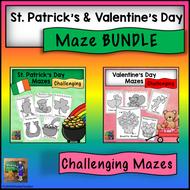 Valentine's Day and St. Patrick's Day *Maze Bundle*