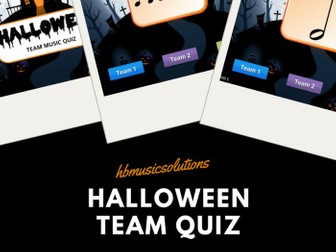 Halloween Interactive Team Music Quiz