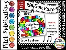 Music Centers: Rhythm Race Note Naming Edition Level Beginner - Rhythm Game