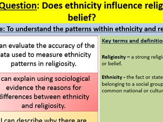 religious and thnic groups paper