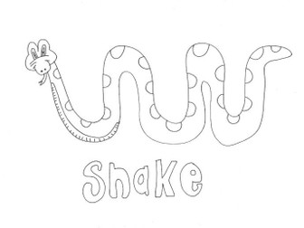 Snake (1): Animals and Pets: Colouring Page