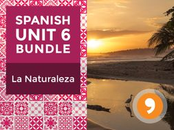 Spanish Unit 6 Bundle: La Naturaleza - Nature