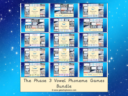 The Letters & Sounds Phase 3 Vowel Phonemes Games Bundle