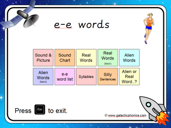 The e-e (split digraph) Phonics PowerPoint