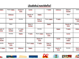 Christmas Sudoku.Spanish Christmas Sudoku