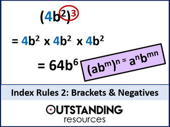 Index Rules 2 - Brackets and Negatives Index Laws or Indices