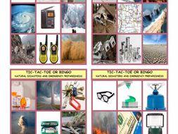 Natural Disasters and Emergency Preparedness Tic-Tac-Toe or Bingo