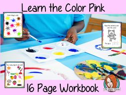 Color 'Pink' 16 Page Workbook