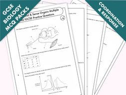 GCSE Biology: Multiple-Choice Topic Question Packs on Coordination & Response